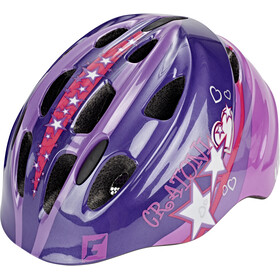 Cratoni Akino Casque Enfant, purple-pink glossy